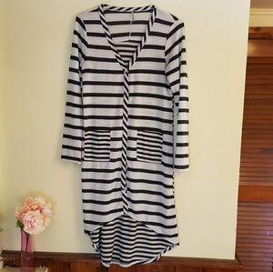 Sweaters - Long striped cardigan